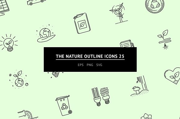 The Nature Outline Icons 25