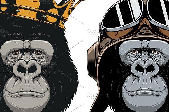 Funny Gorilla Head