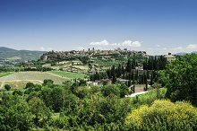 Italian traditional village view.