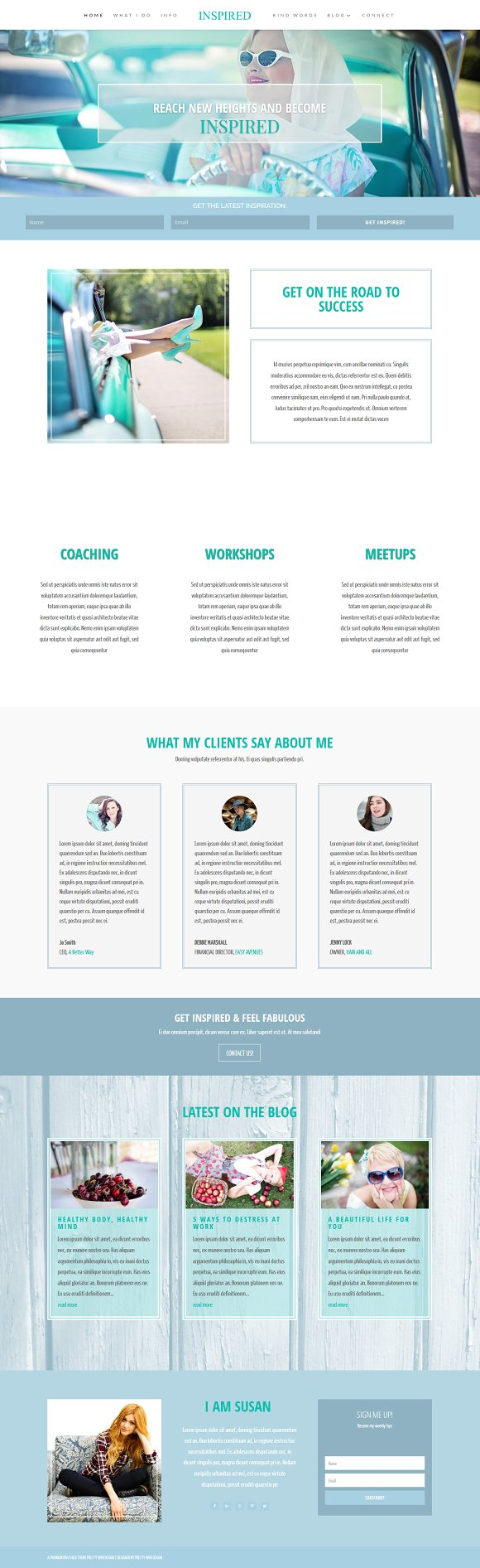 Inspired WordPress Blog Theme