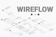 Wireflow Flowcharts by  in Wireframe Kits