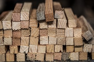 background with stacked wooden planks
