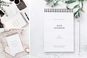 NOTEPADS. 50 MOCKUPS - BUNDLE.