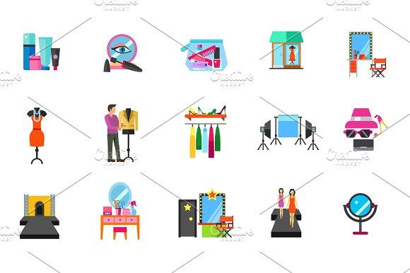 Fashion Industry Icon Set