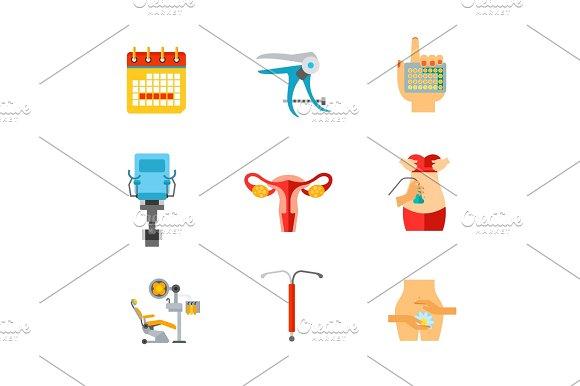 Gynecology Icon Set