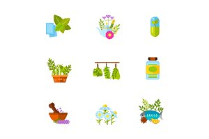 Herb icon set