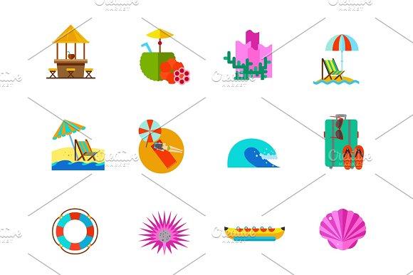 Sea Vacations Icon Set