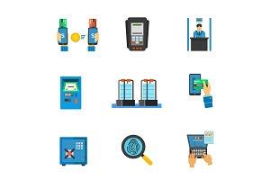 Banking service icon set