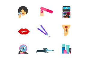 Makeup icon set