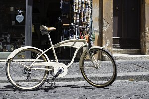 Vintage italian style bicycle