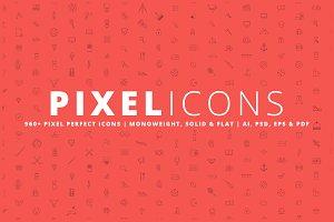 Pixel Icons  |  960+ Icons