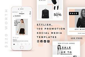 Stylish - 100 Social Media Templates