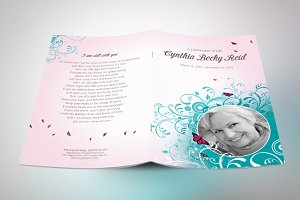 victorian funeral program template invitation templates creative