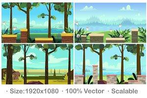 Game Backgrounds set