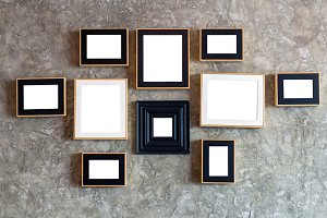 Photo frame over the brick wall