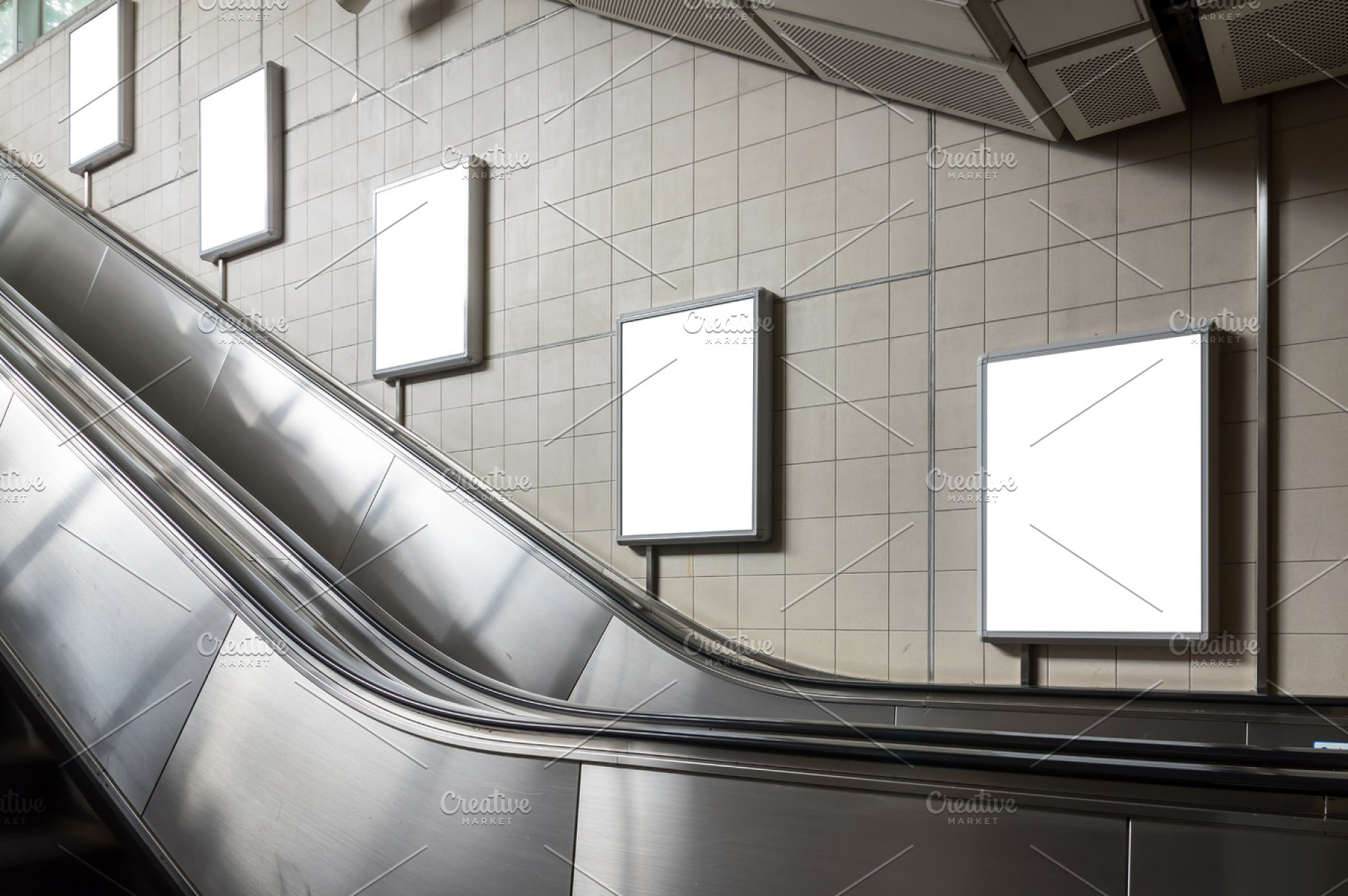 Subway Advertising Mockup Concept High Quality Business Images