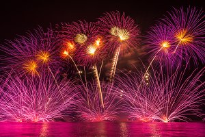 Multicolor Firework Celebration