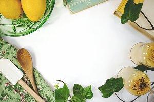 Lemon Ivy and Vintage Glassware