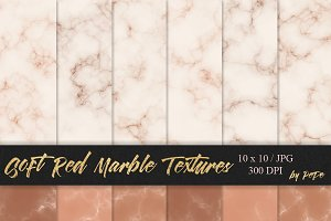 Soft Red Marble Textures