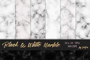 Black & white marble textures