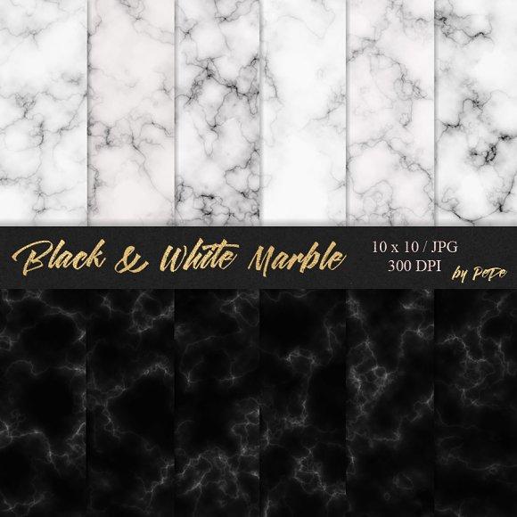 Black White Marble Textures