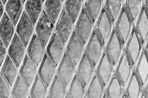 Fence Rhombus in Black and White