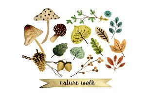 Nature walk clipart