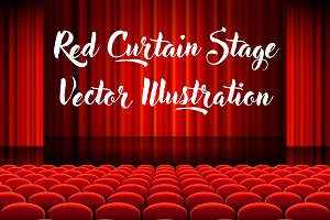 Red Cinema Vector Illustrations