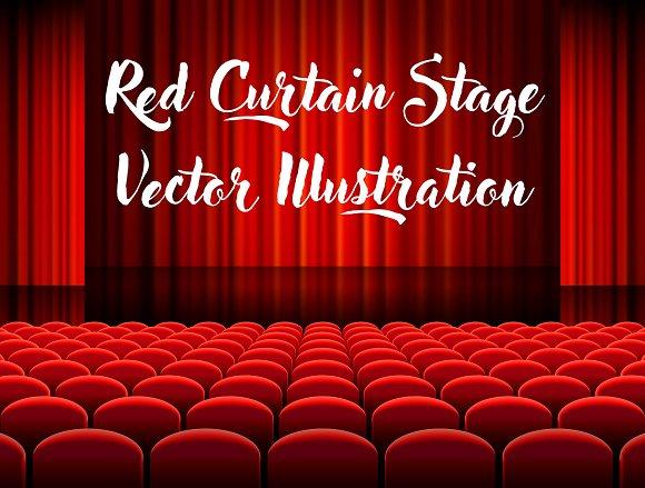 Red Cinema Vector Illustrations