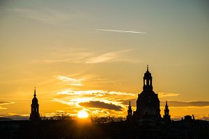 Dresden skyline with Frauenkirche