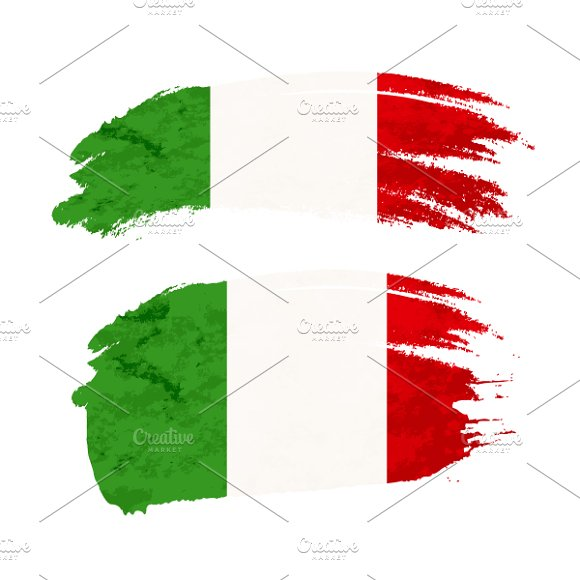Brush Stroke With Italy Flag