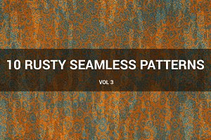 Rusty Metal Seamless Patterns (v 3)