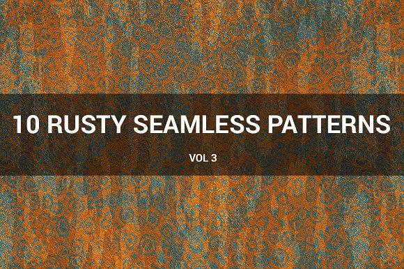 Rusty Metal Seamless Patterns (v 3)