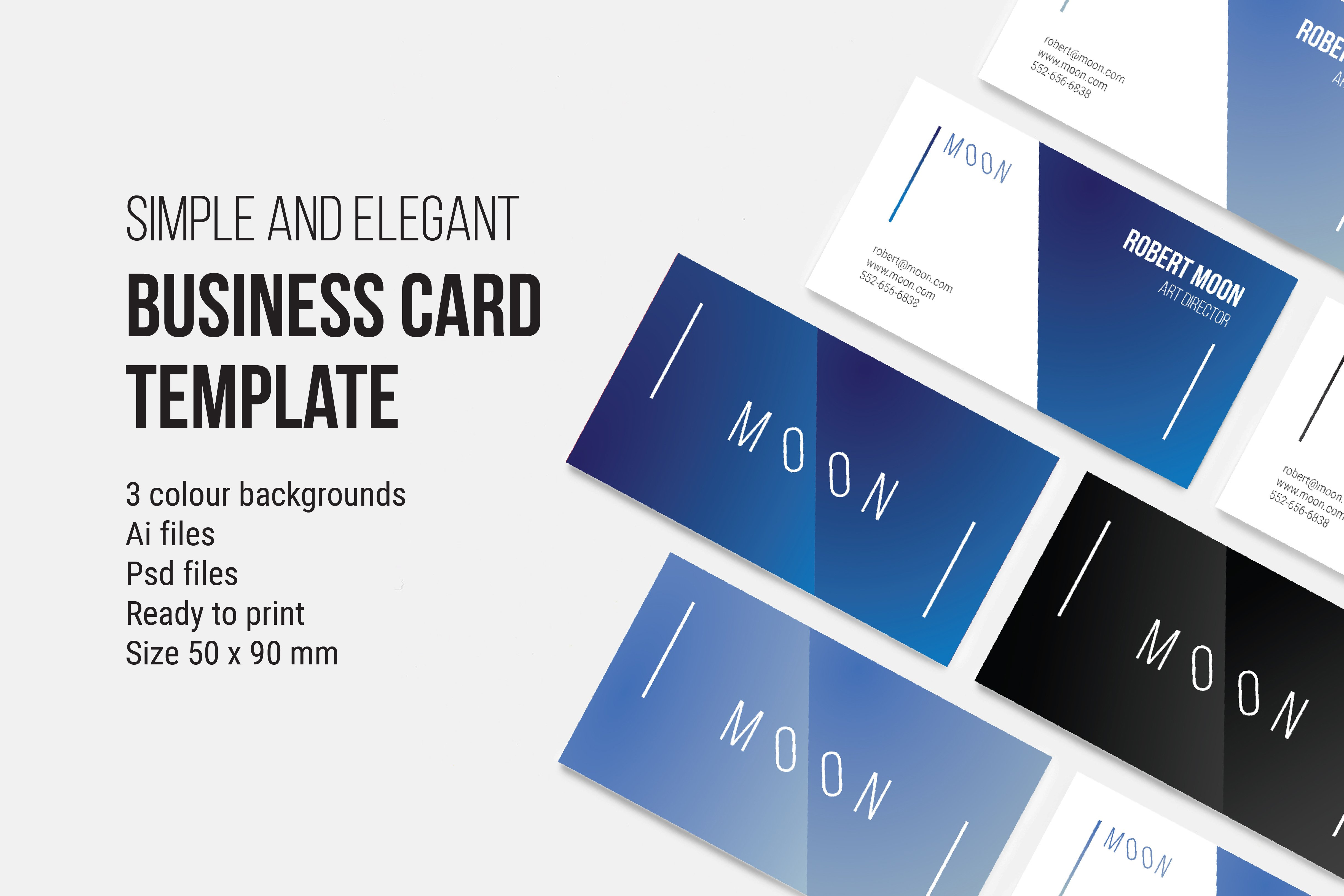 Moon business card temmplate business card templates creative market colourmoves