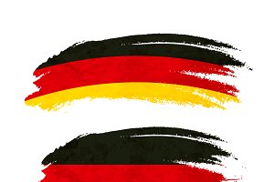 Brush stroke with Germany flag