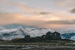 Abandoned Farm and Winter Sunrise
