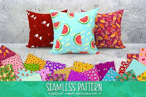 abstract summer seamless pattern