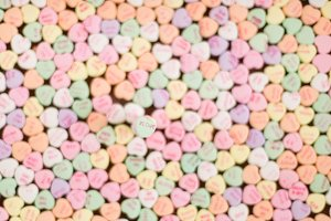 # Love Candy Heart background