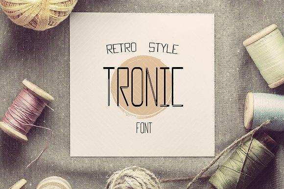 New TRONIC Font