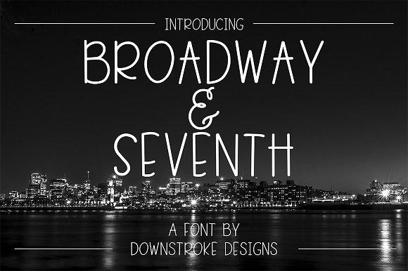 Broadway Seventh Font