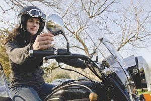 Woman at bike
