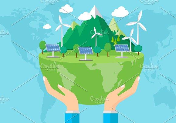 Safe The Planet Concept
