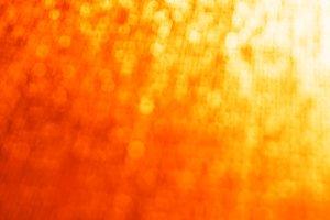 Horizontal golden orange  bokeh background