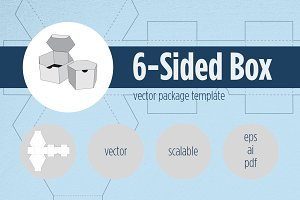 6-Sided Box Package Template
