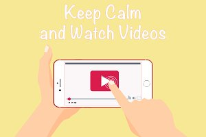 Watching video in smartphone