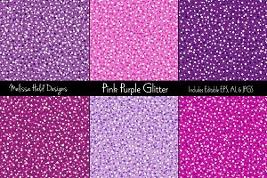 Pink and Purple Glitter Backgrounds