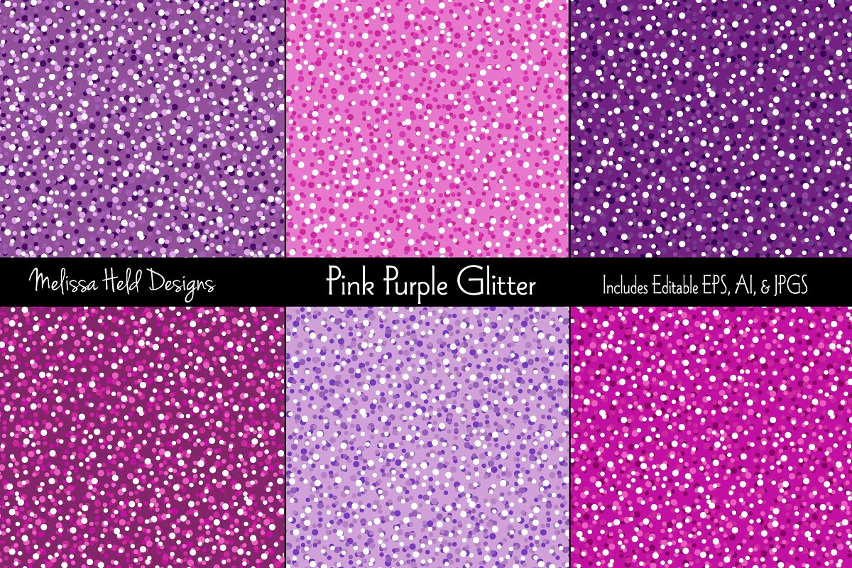 Pink And Purple Glitter Backgrounds Textures Creative Market