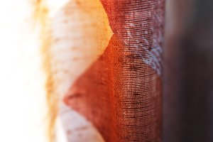 Vertical brown red vintage textured curtain backdrop