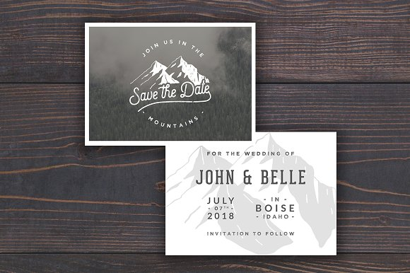 Mountain Save The Date Template