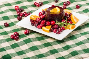 Plate of cranberry sauce
